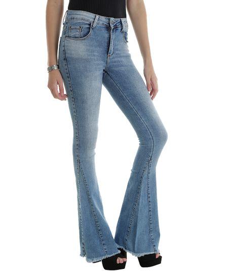 Calça Jeans Flare Sawary Azul Claro