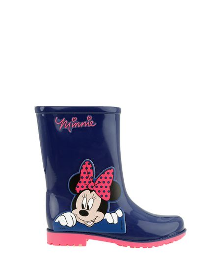 Bota Galocha Minnie Azul