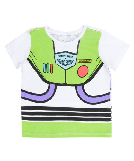 Camiseta Fantasia Buzz Lightyear Branca