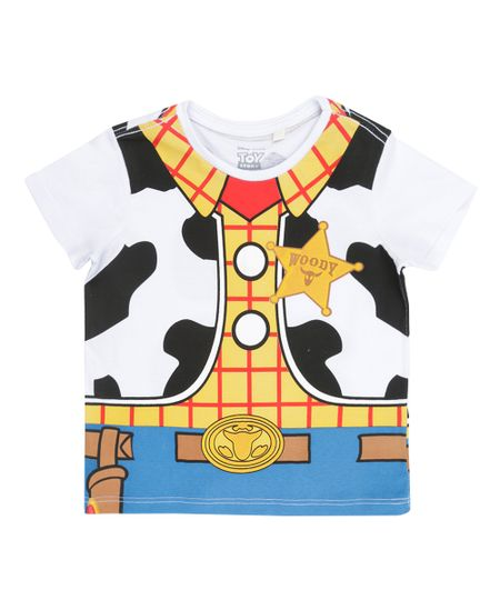 Camiseta Fantasia Woody Branca