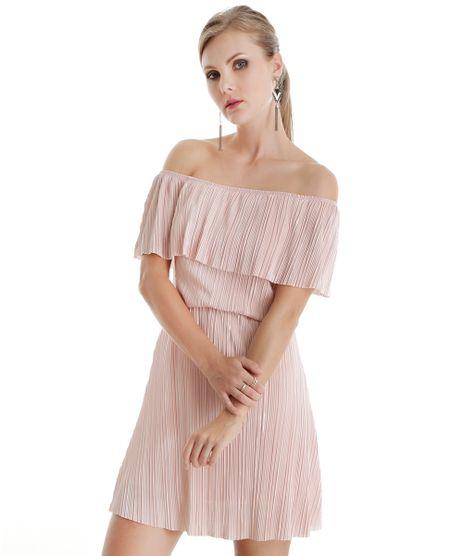 Vestido-Ombro-a-Ombro-Plissado-Rosa-Claro-8544743-Rosa_Claro_1