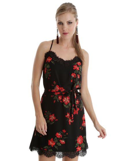 Vestido-Estampado-Floral-com-Renda-Preto-8464627-Preto_1