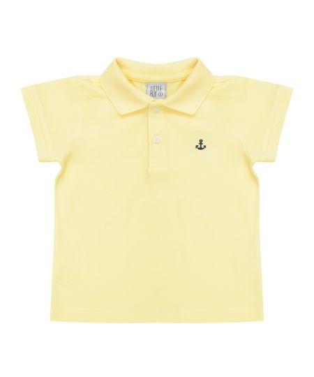 Polo em Piquet Amarela