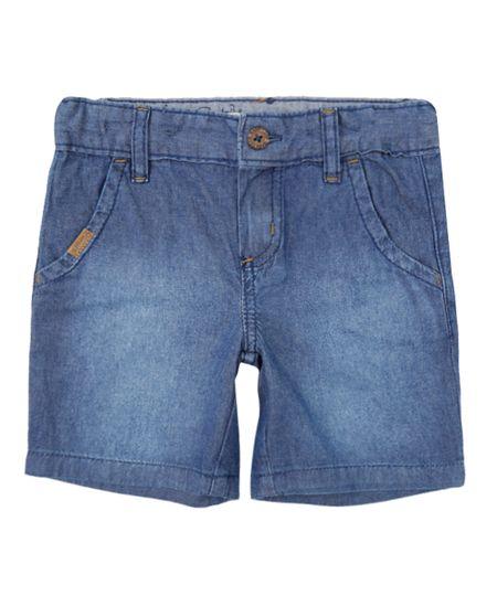 Bermuda Jeans Leve Azul Médio
