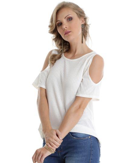 Blusa Open Shoulder Off White
