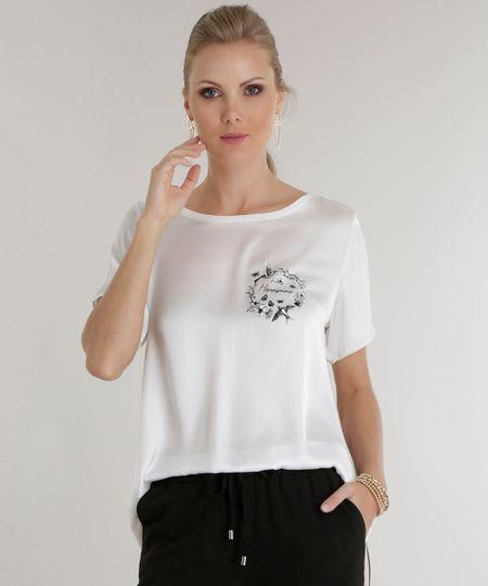 Blusa Acetinada Branca