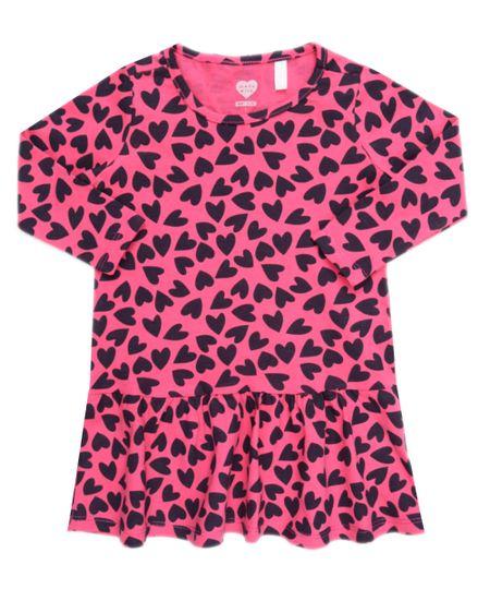 Vestido Estampado de Corações Pink