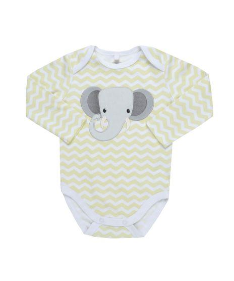 Body-Estampado-Elefante-em-Algodao---Sustentavel-Amarelo-Claro-8461082-Amarelo_Claro_1