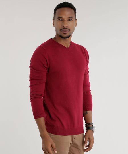 Suéter em Tricô Vinho