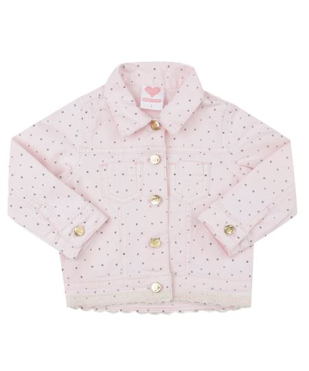 Jaqueta Estampada de Poás Rosa Claro