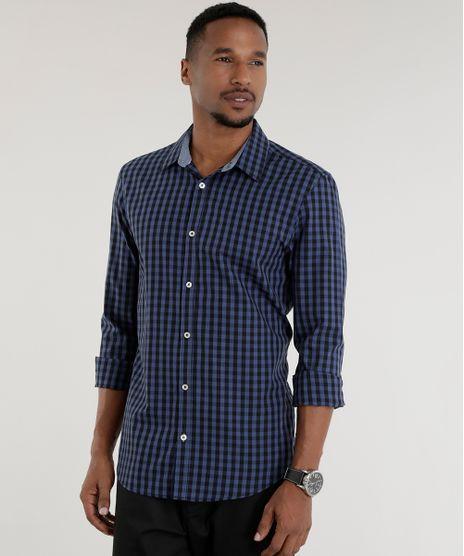 Camisa-Slim-Estampada-Xadrez-Azul-Marinho-8443146-Azul_Marinho_1
