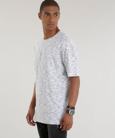 Camiseta Longa Branca