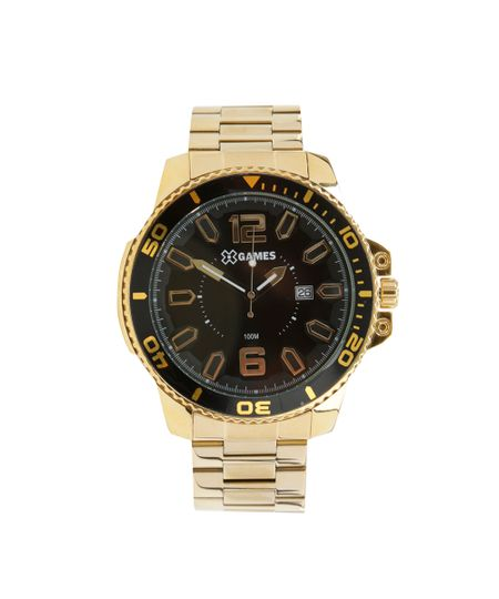 Relógio X-Games Analógico Masculino - XMGS1019 P2KX Dourado