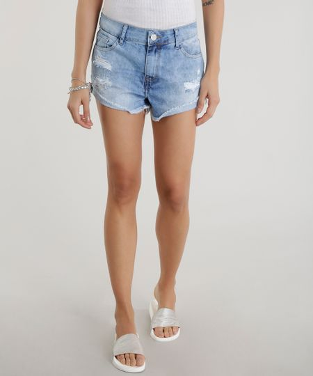 Short Jeans Relaxed  Azul Claro