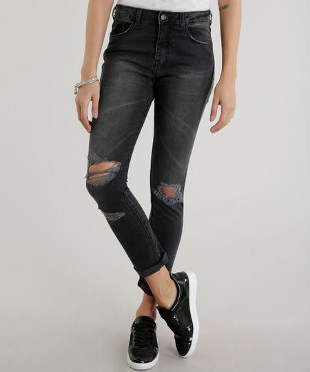 Calça Jeans Super Skinny Preta