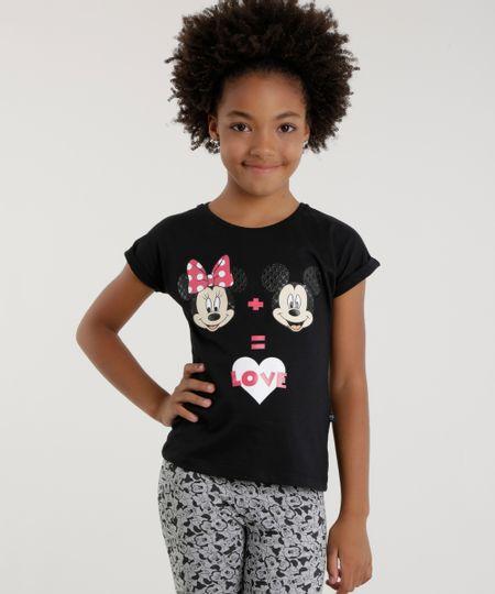 Blusa Mickey & Minnie Preta