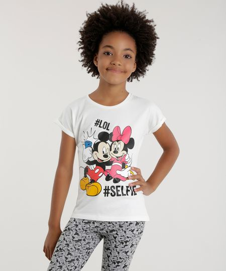 Blusa Mickey & Minnie Off White