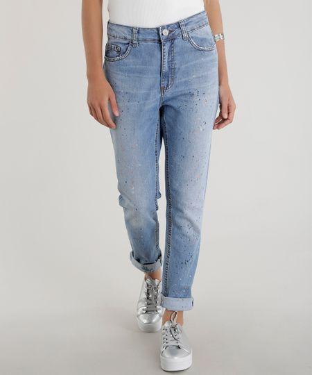 Calça Jeans Boyfriend Azul Médio