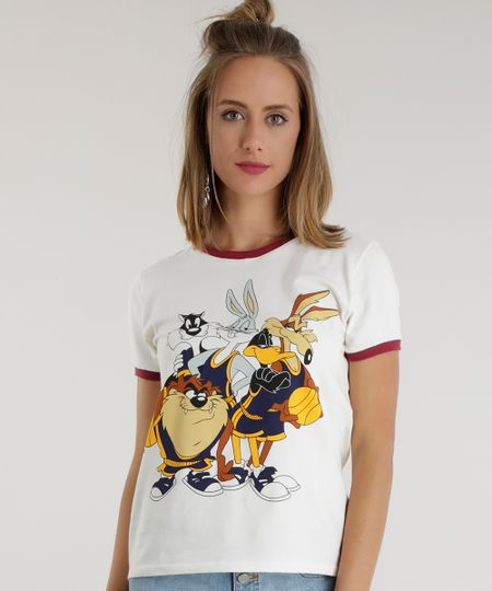 Blusa Looney Tunes Off White