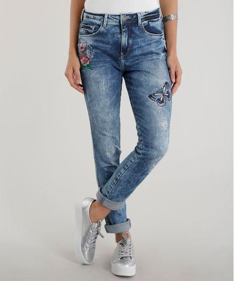 Calca-Jeans-Skinny-com-Bordado-Azul-Medio-8556777-Azul_Medio_1