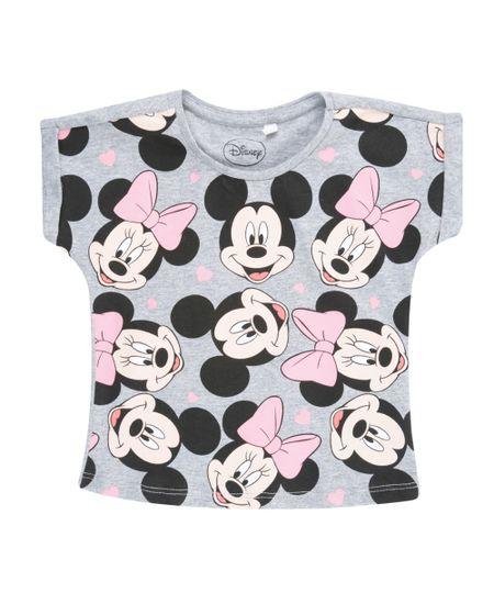 Blusa Mickey & Minnie Cinza Mescla