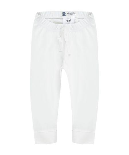 Calça Unissex em Algodão + Sustentável Branca