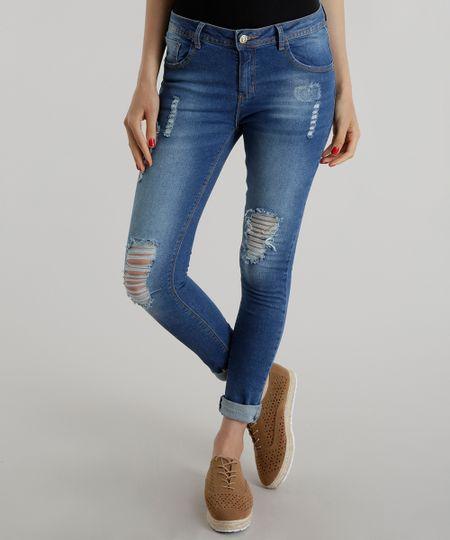 Calça Jeans Azul Médio