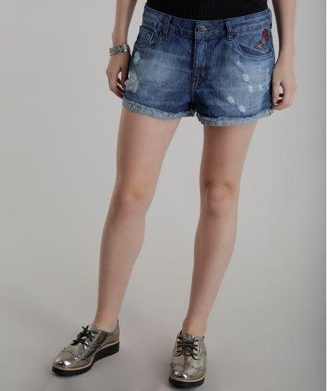 Short-Jeans-Relaxed-com-Bordado-Azul-Medio-8493214-Azul_Medio_1