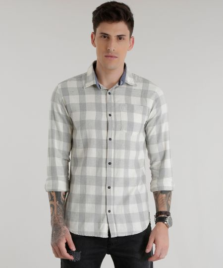 Camisa Xadrez Off White