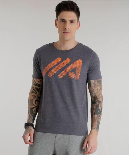 Camiseta Ace Basic Dry Cinza Mescla Escuro