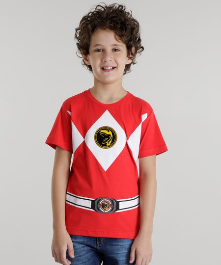 Camiseta Power Rangers Vermelha
