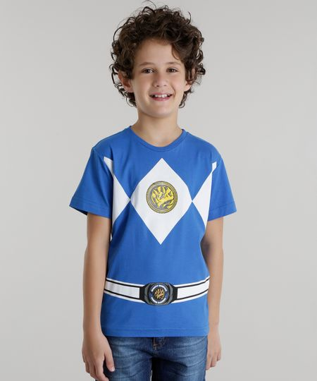 Camiseta Power Rangers Azul