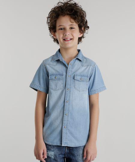 Camisa Jeans Azul Claro