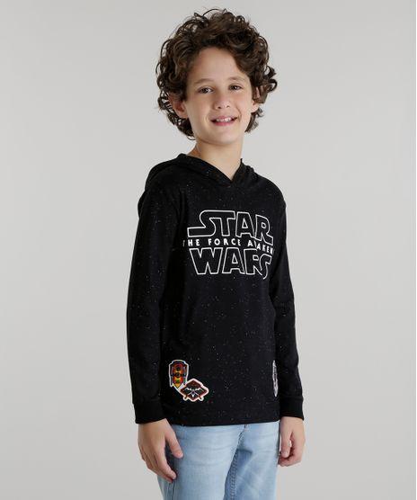 Camiseta-com-Capuz-Star-Wars-Preta-8533448-Preto_1
