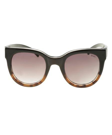 Óculos Redondo Feminino Pat Pat's Preto