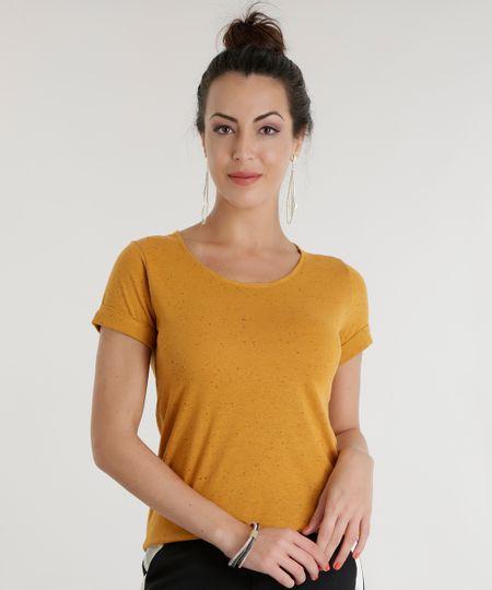 Blusa Básica Botonê Amarelo