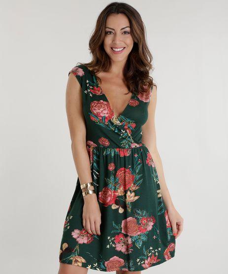 Vestido-Estampado-Floral-Verde-Escuro-8597558-Verde_Escuro_1