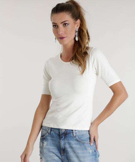 Blusa Básica com Tiras Off White
