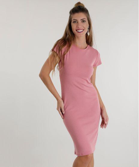 Vestido-Midi-Canelado-Rosa-8559650-Rosa_1