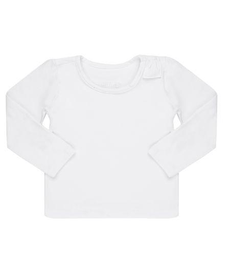 Blusa Básica com Laço Branca