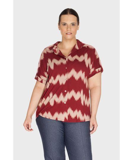 Camisa Zig Zag Plus Size