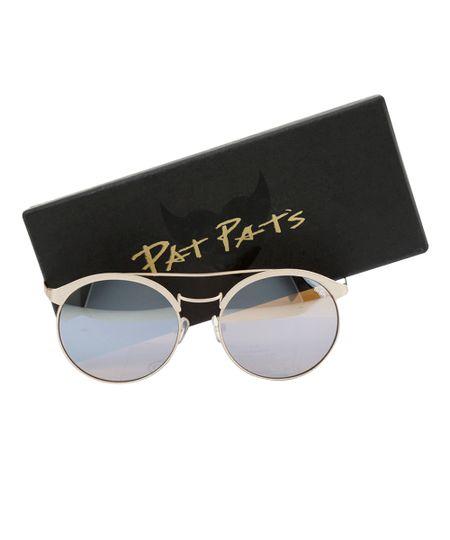 Óculos Redondo Feminino Pat Pat's Dourado
