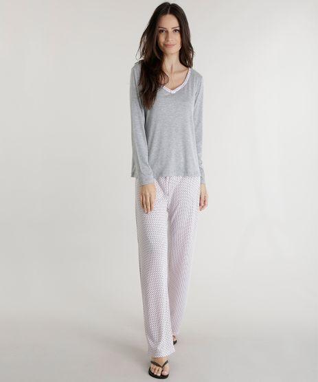 Pijama-Estampado-de-Poas-Cinza-Mescla-8573026-Cinza_Mescla_1
