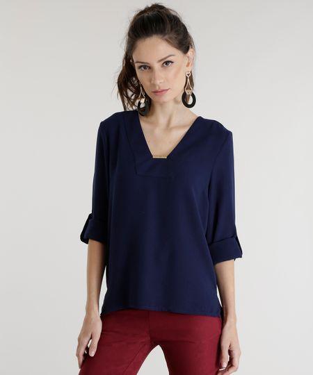 Blusa Mullet Azul Marinho