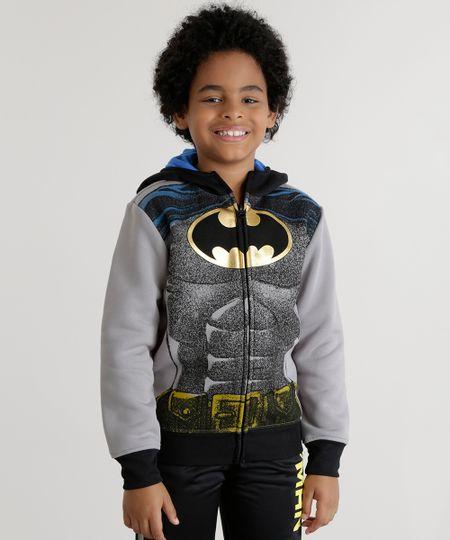 Blusão Batman em Moletom Cinza
