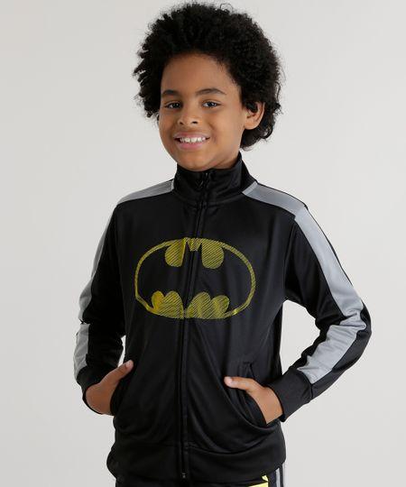 Blusão Batman em Moletom Preto