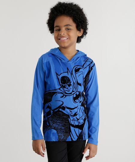 Camiseta Batman com Capuz Azul
