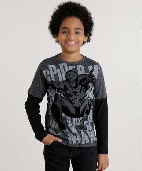 Camiseta-Homem-Aranha-Cinza-Mescla-Escuro-8558533-Cinza_Mescla_Escuro_1