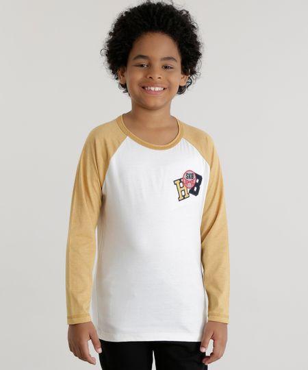 Camiseta com Patch Branca