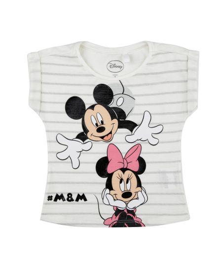 Blusa Mickey e Minnie Off White